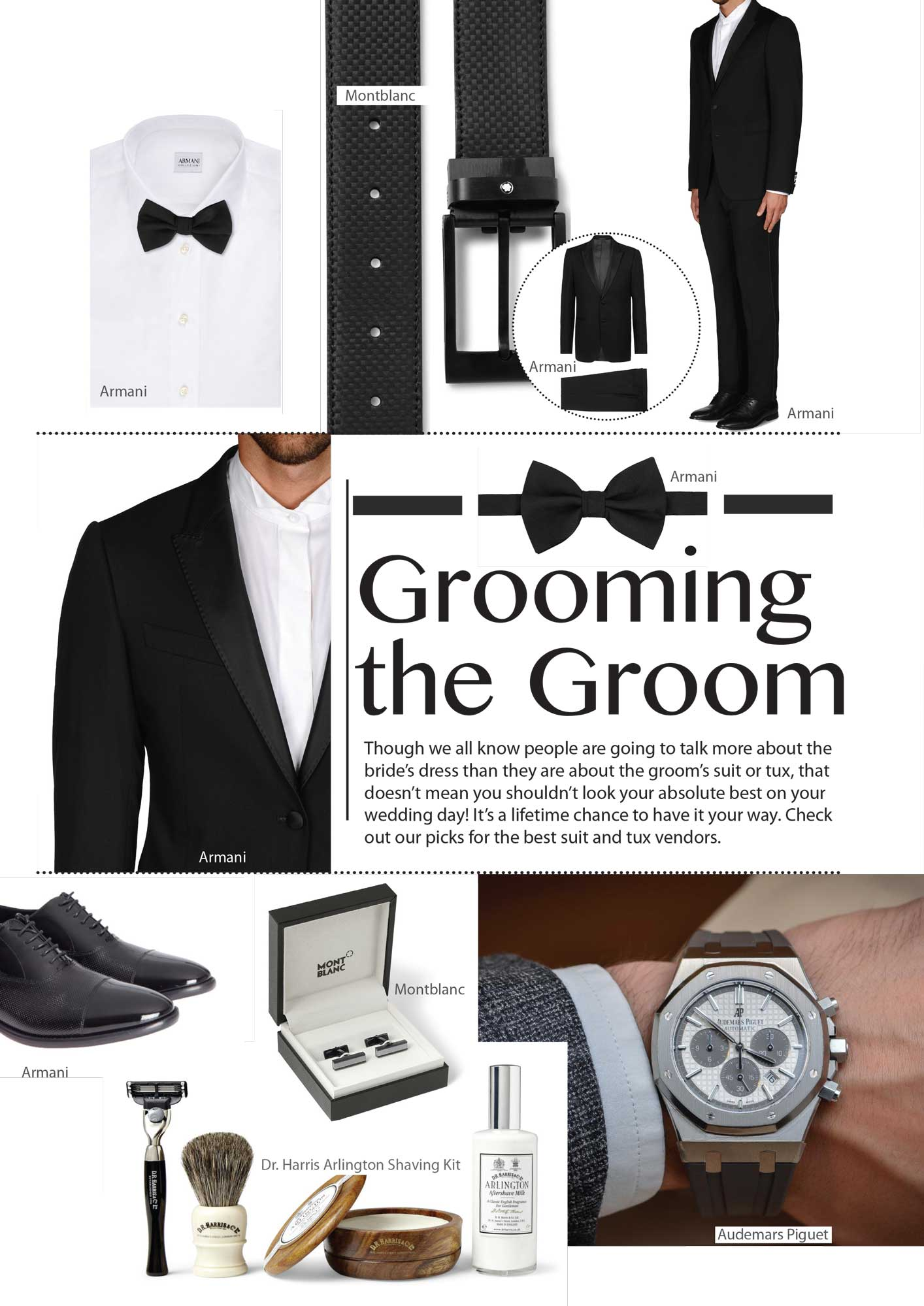 Though we all know people are going to talk more about the bride's dress than they are about the groom's suit or tux, that doesn't mean you shouldn't look your absolute best on your wedding day! It's a lifetime chance to have it your way. Check out our picks for the best suit and tux vendors.