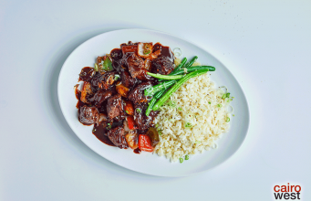 Peppersoy Glazed Beef with Basmati Rice recipe